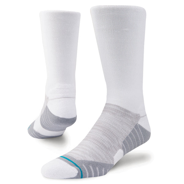 White 'UNCOMMON SOLIDS' Crew Golf Sock - Men's / 2019
