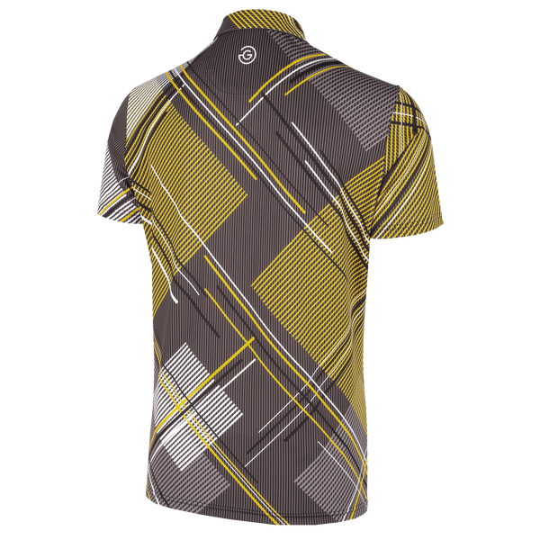 Black/Yellow 'MITCHELL' Golf Shirt with VENTIL8™PLUS fabric  - MEN
