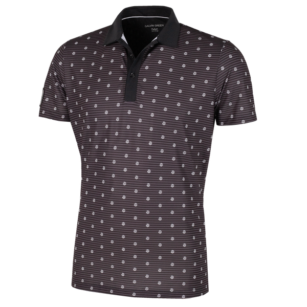 Black/White 'MONTY' Golf Polo Shirt - MEN