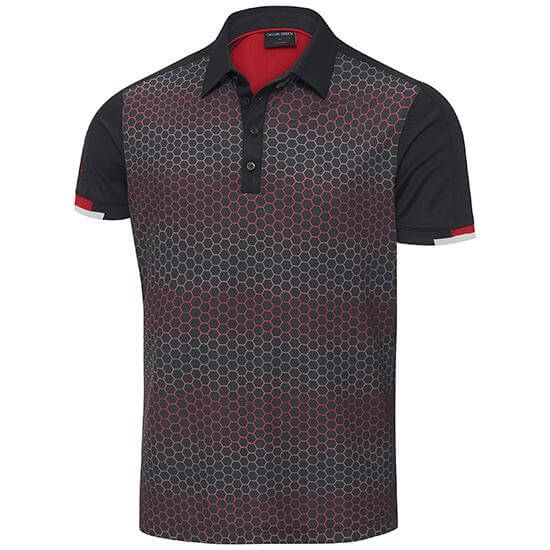 BLACK 'MYLES' GOLF POLO SHIRT - MEN / OUTLET