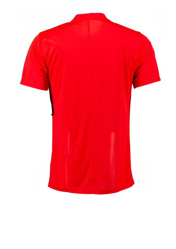 Red 'DRI-FIT VICTORY' GOLF COLLARLESS POLO SHIRT - MEN / 2021