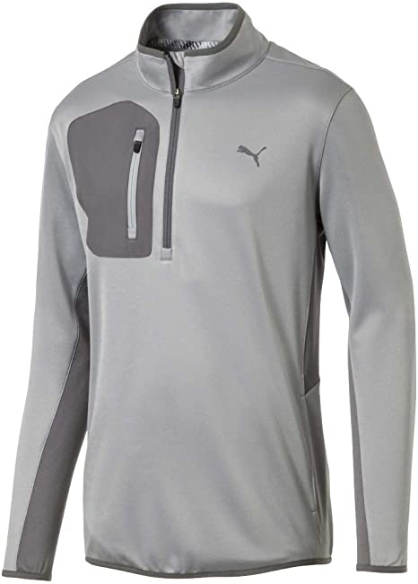 GREY 'TECH' 1/4 ZIP GOLF MID LAYER - MEN / OUTLET
