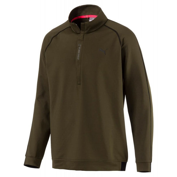 olive 'PWRwarm' 1/4 Zip Golf Mid Layer - MEN / OUTLET