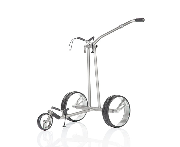 Lightweight 'PHANTOM TITAN eX 2.0' TITANIUM 3-wheel electric Golf Trolley - CUSTOM / BESPOKE