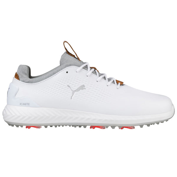 WHITE 'Ignite PWR Adapt LUX' Golf Shoe - MEN / SS20