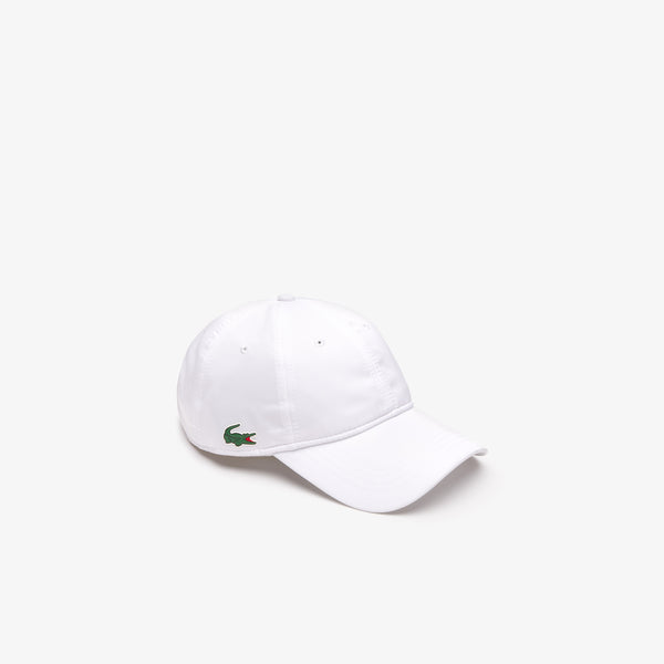 WHITE  SPORT cap in solid diamond weave taffeta - MEN / SS19