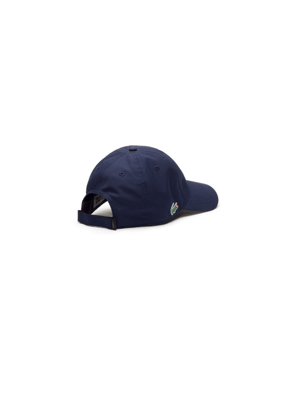 NAVY BLUE SPORT CAP IN SOLID DIAMOND WEAVE TAFFETA - MEN / SS19
