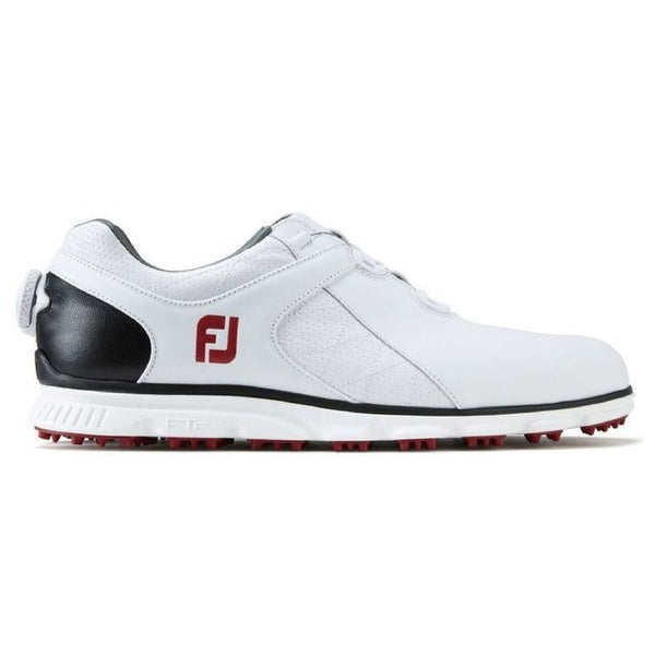 WHITE 'PRO SL' BOA  GOLF SHOE - MEN / OUTLET