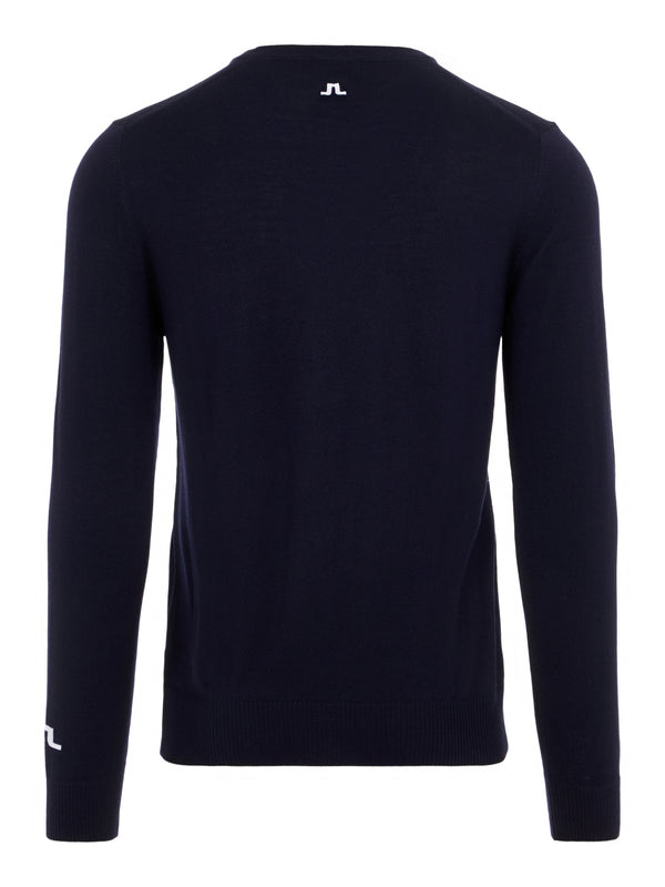 Navy 'Lymann' Tour V-neck Merino Jumper - MEN / 2021