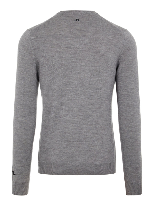 Grey 'Lymann' Tour V-neck Merino Jumper - MEN / 2021