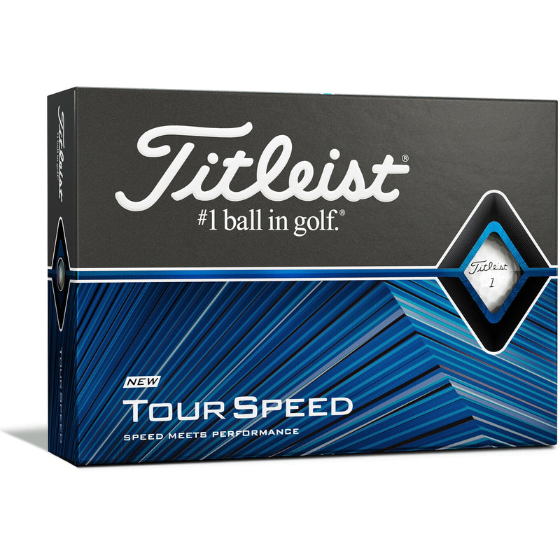 WHITE 'tour speed' GOLF BALLS (NEW) - 12 PACK / 2020