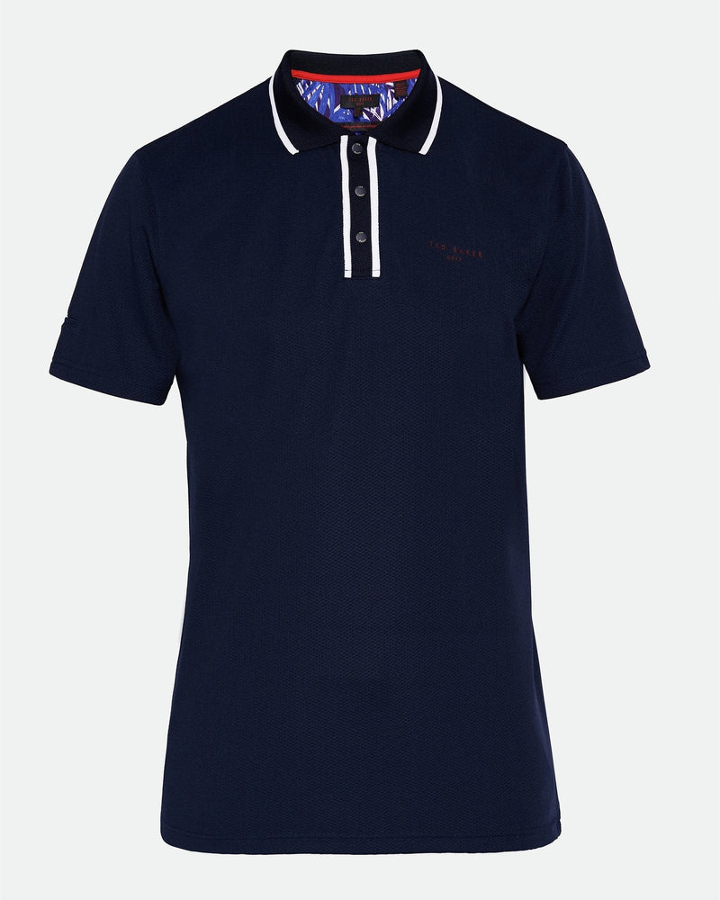 NAVY BUNKA GOLF POLO - MEN'S / AW19