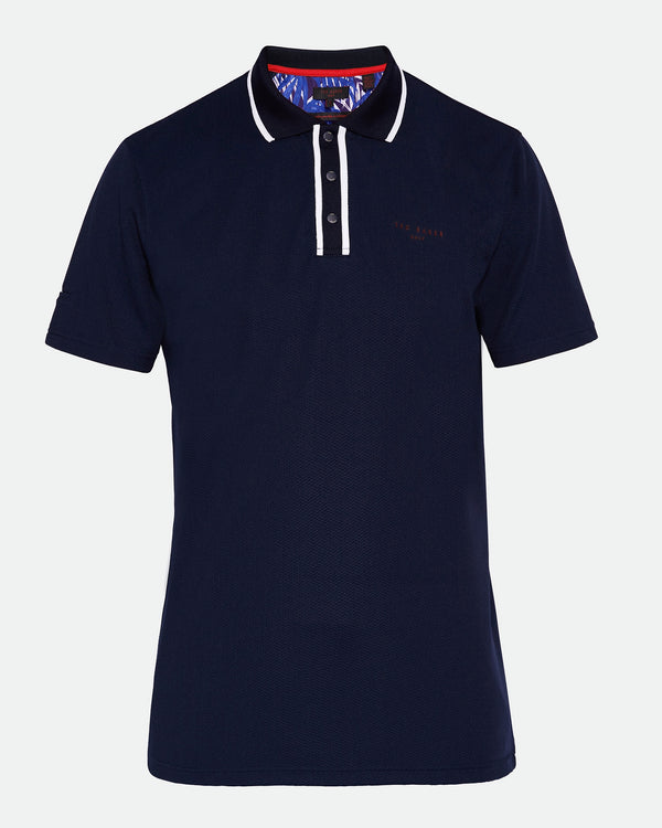 NAVY 'BUNKA' Technical golf polo shirt - Men's / SS19