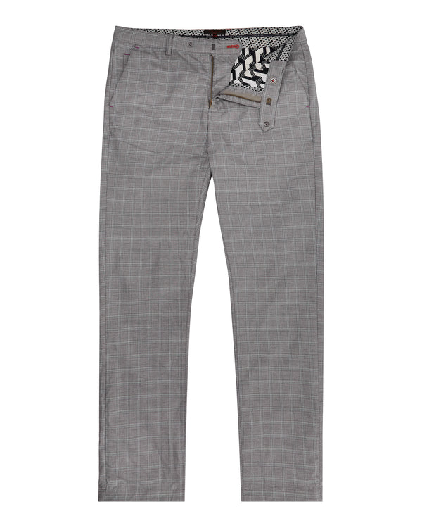 GREY 'SNOOPD' Checked Golf trousers - Men's / SS19