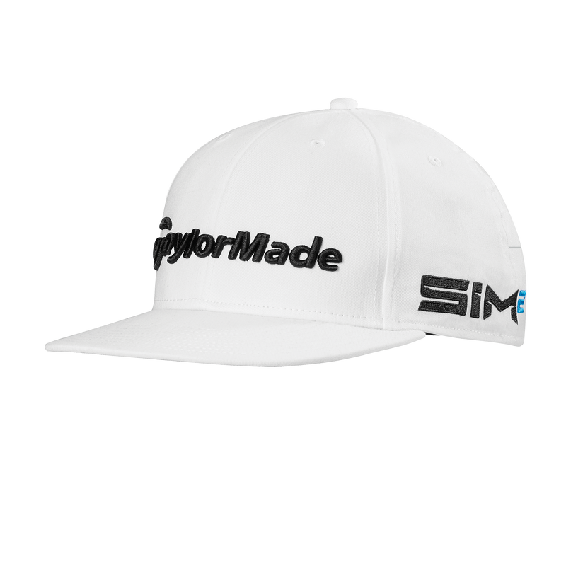 WHITE 'TOUR FLATBILL' GOLF CAP