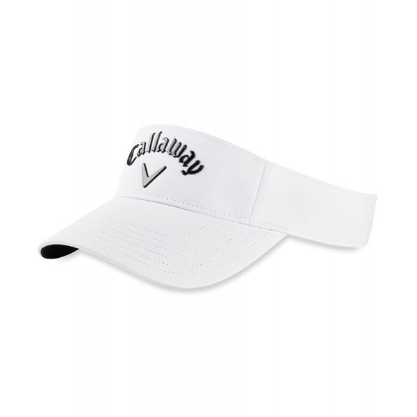 WHITE 'LIQUID METAL' GOLF VISOR - MEN / SS20