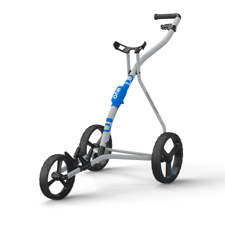 WHITE / BLUE 'WISHBONE ONE' - PUSH GOLF TROLLEY / 2020
