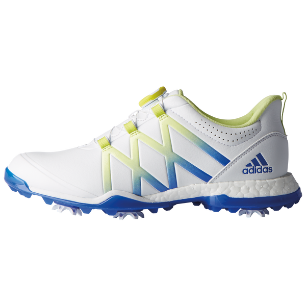 White / Semi Frozen Yellow / Blue adipower boost Boa GOLF SHOE - WOMEN'S / 2018