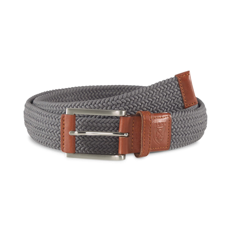 GREY 'X Weave' GOLF Belt  - MEN / SS20