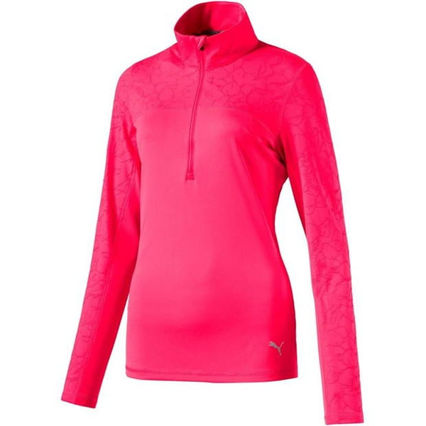RED 'Jacquard Quarter Zip Mid layer - WOMEN / OUTLET