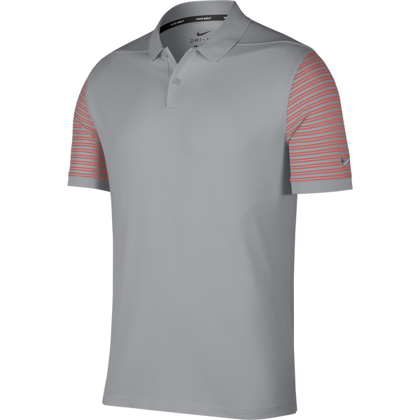 WOLF GREY/RUSH CORAL Dry Golf Polo (Regular Fit) - Men's / SS18