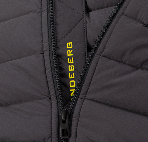 Grey 'Ease' Hooded Down Golf Jacket - MEN / AW19