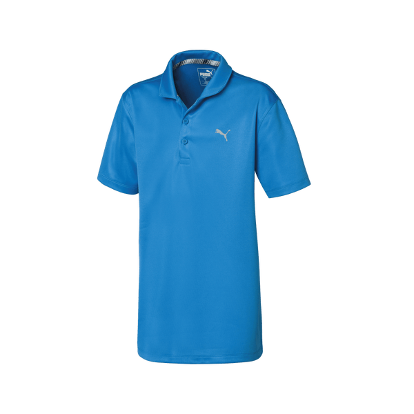 Blue 'Essential' Golf Polo - JUNIOR / SS20