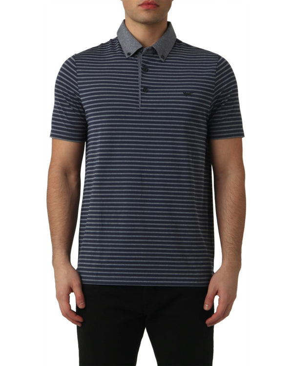 TOTAL ECLIPSE STRIPE POLO   -