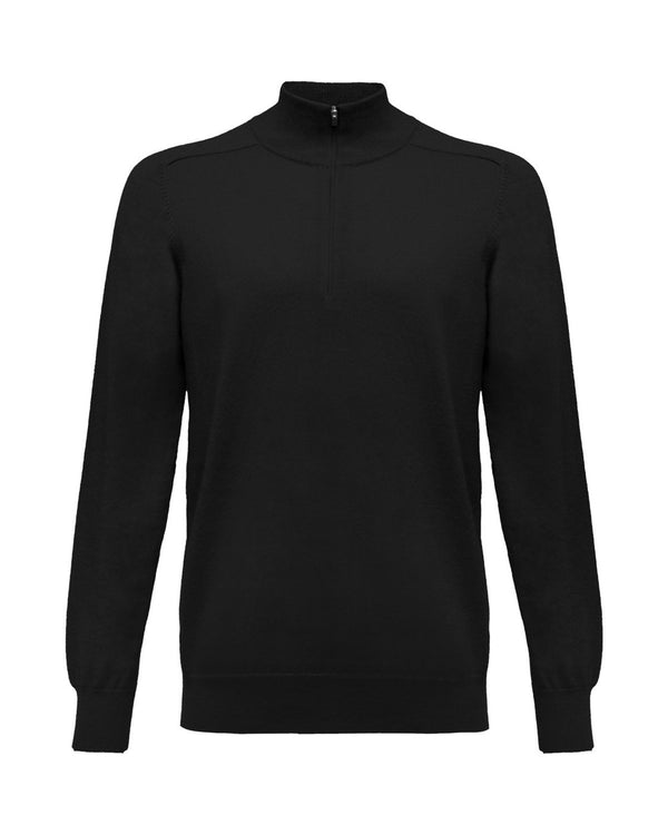 MERINO ZIP NECK SWEATER   -