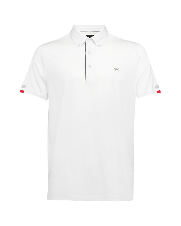 WHITE TIPPING SLEEVE POLO IN WHITE POLO   -