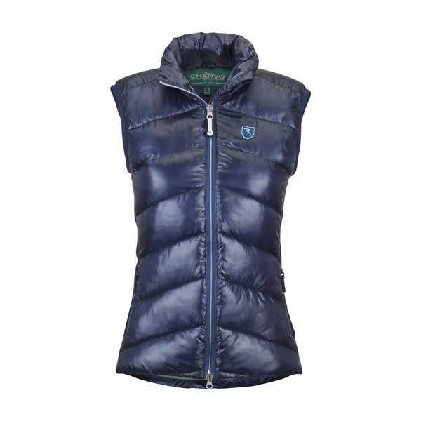Navy Blue Edwige Vest - WOMEN / OUTLET