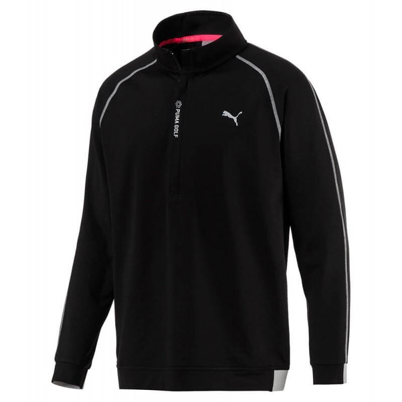 BLACK 'PWRWARM' 1/4 Zip gOLF Sweater - MEN / OUTLET