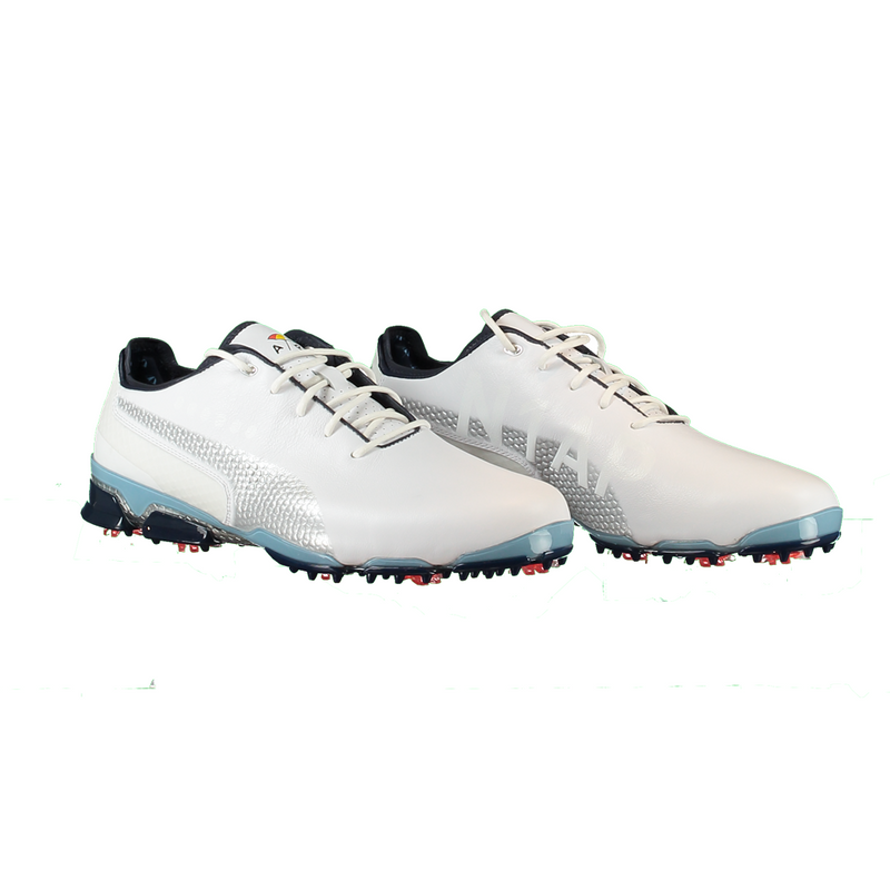 White 'IGNITE PROADAPT' ARNOLD PALMER Golf SHoe  - ARNOLD PALMER X PUMA / MEN