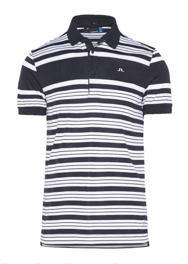 JL Navy M Ralfs Striped Slim TX J. T-shirt Short Sleeves - Men's / AW18