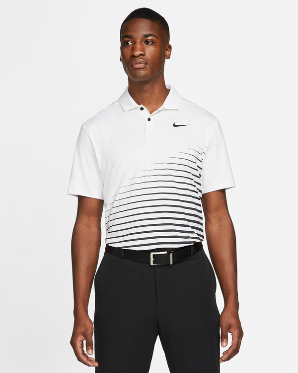 White 'Dri-FIT Vapor'  Graphic Golf Polo - MEN