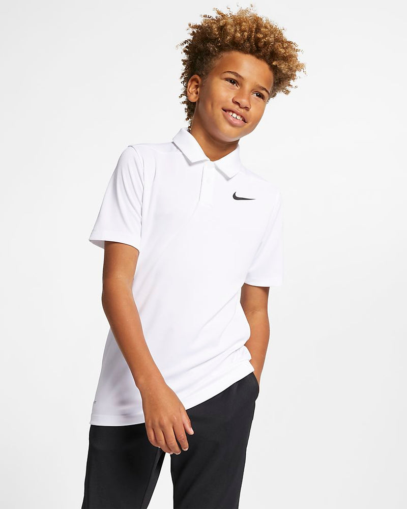 WHITE/BLACK DRY POLO VICTORY - JUNIOR / OUTLET
