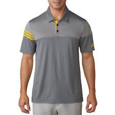 VISTA GREY/YELLOW  3-STRIPES HEATHER BLOCK POLO   -  SS17