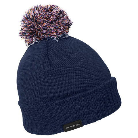 NAVY/MULTI COLOUR BOO MEN'S/LADIES' WINDSTOPPER® Bobble Hat - AW17