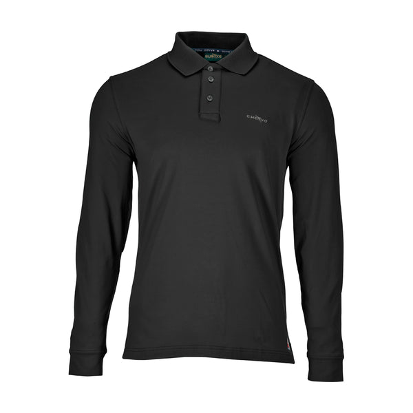 GREY BLACK ANGUY POLO - MEN / OUTLET