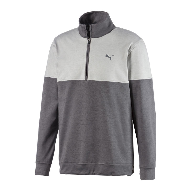 grey 'Warm Up' 1/4 Zip golf mid layer - MEN / SS20