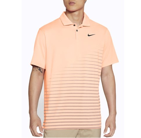 CRIMSON TINT/BLACK/BLACK  'Nike Dri-FIT Vapor' Graphic Golf Polo - MEN