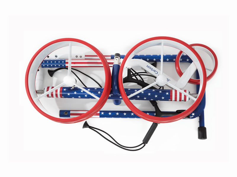 Lightweight 'USA TRAVEL 2.0' CARBON 3-wheel electric Golf Trolley - CUSTOM / BESPOKE