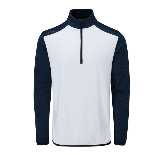 White/Oxford Blue Marl 'Edison' Golf Mid Layers - MEN