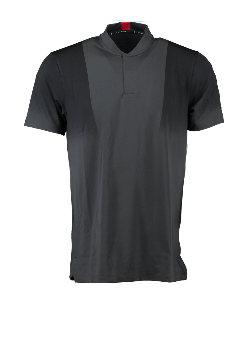 Grey 'DRI-FIT VICTORY' Tiger Woods GOLF COLLARLESS POLO SHIRT - MEN / 2021