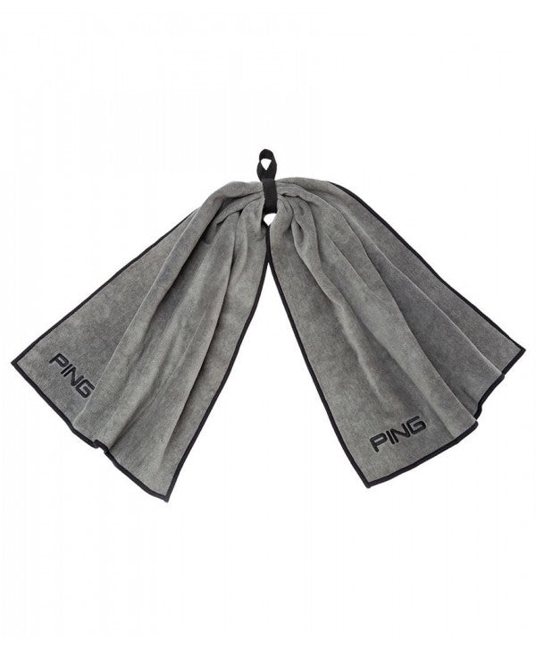 Grey 'Bow Tie' Golf Towel