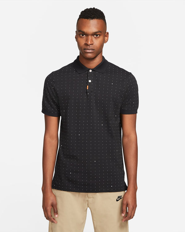 Black 'The Nike Polo' Printed Slim Fit Polo - MEN / 2021