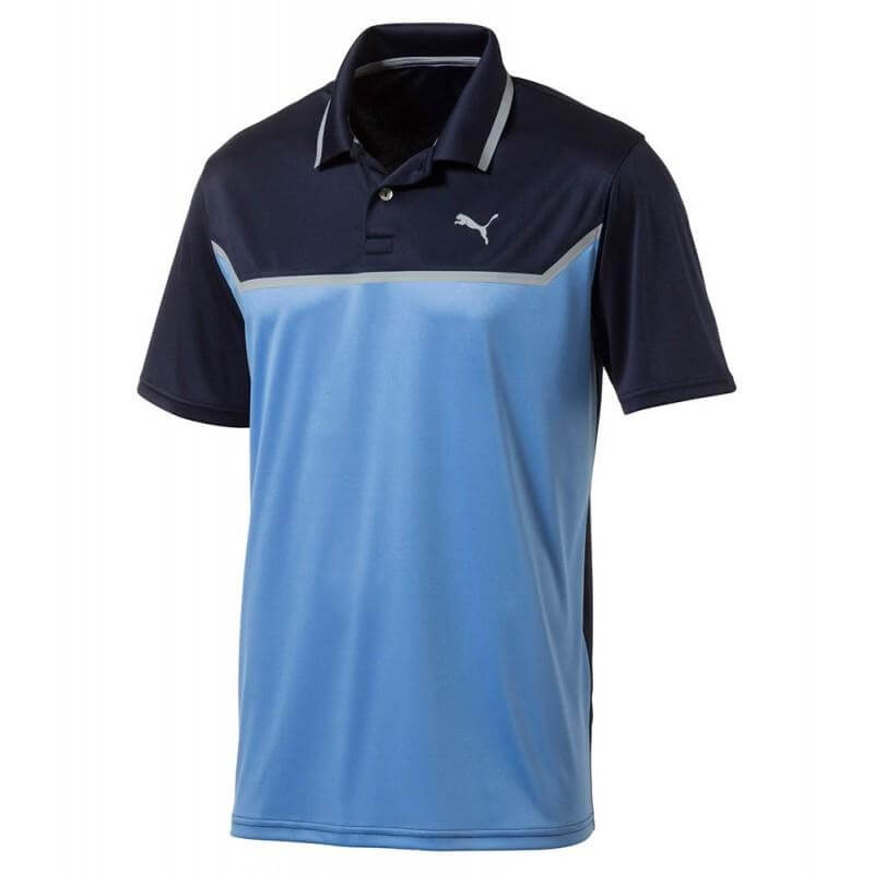 BLUE 'BONDED TECH' GOLF POLO - Men / OUTLET