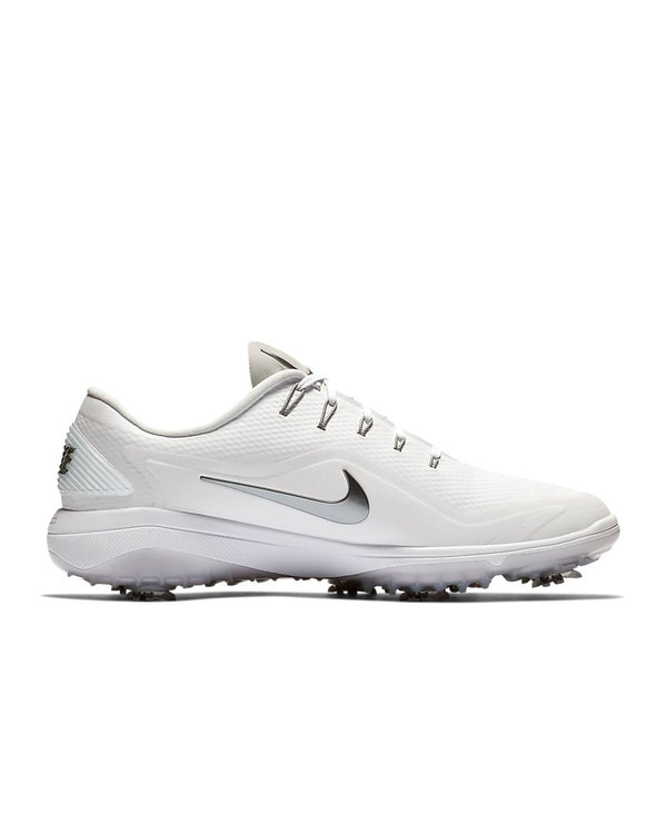 White/White/Black/Metallic Cool Grey 'React Vapor 2' Golf Shoe - MEN / OUTLET
