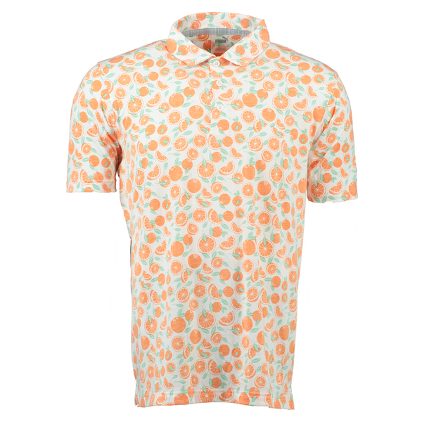 Printed 'Slices' Golf Polo Shirt - MEN / SS20