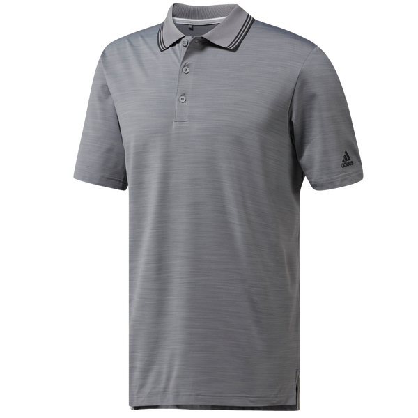 Grey Ultimate 365 Textured Stripe Polo DH6817 -Men's / AW18